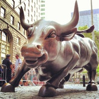 Photo taken at Charging Bull by Arturo Di Modica by Milton on 6/20/2012