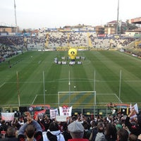 Photo taken at Stadio Ennio Tardini by Fabio C. on 3/17/2012