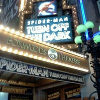 Photo taken at Spider-Man: Turn Off The Dark at the Foxwoods Theatre by Lester F. on 3/22/2012