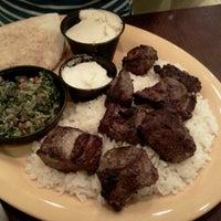 Photo taken at Kibberia Middle Eastern Restaurant & Cafe by Moo J. on 9/5/2012