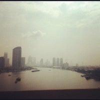 Photo taken at Rama III Bridge by iBoZR B. on 5/17/2012