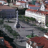 Photo taken at Rossio Square by Max M. on 7/9/2012