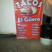 "Photo taken at Tacos ""El Güero"" by Richi D. on 5/10/2012"