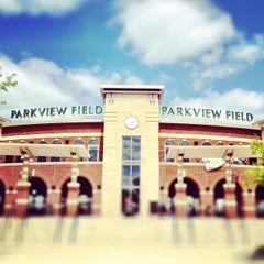 Photo taken at Parkview Field by Nick K. on 4/21/2012