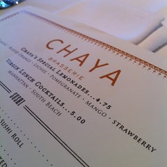 Photo taken at Chaya Brasserie by Eric A. on 4/26/2012