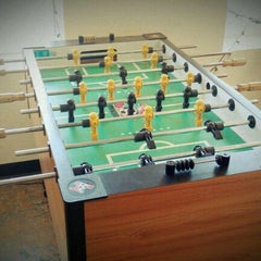 Photo taken at Integrity Foosball Table by Landon Z. on 4/2/2012
