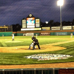 Photo taken at Northeast Delta Dental Stadium by Nicole C. on 5/31/2012