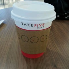Photo taken at Take Five Cafe Richmond Centre by Lin ♥. on 3/10/2012