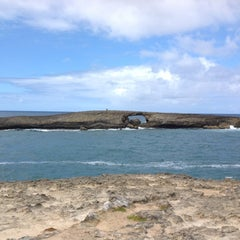 Photo taken at Laie Point by F F. on 8/10/2012
