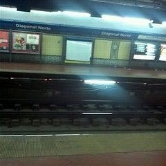 Photo taken at Estación Diagonal Norte [Línea C] by Lucina S. on 5/4/2012