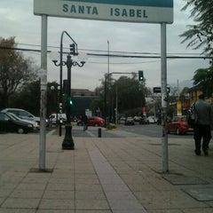 Photo taken at Metro Santa Isabel by Fernanda C. on 5/31/2012