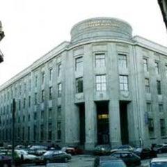 Photo taken at СПГУТД (Санкт-Петербургский государственный университет технологии и дизайна) by Никита O. on 2/24/2012
