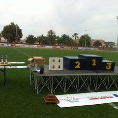 Photo taken at Estadio Municipal Manolo Macia by Toni M. on 6/8/2012