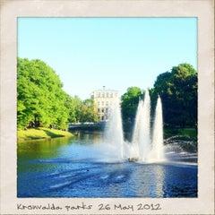 Photo taken at Kronvalda parks by Natalya R. on 5/26/2012
