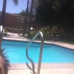 Photo taken at Huntington Villas Back Pool by Brandon M. on 5/21/2012