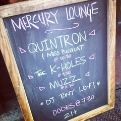 Photo taken at Mercury Lounge by Lana W. on 4/29/2012