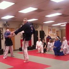 Photo taken at Azad's Martial Arts Family Academy by Aaron B. on 3/15/2012
