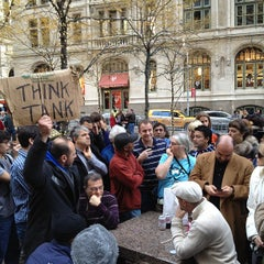 Photo taken at #OCCUPYWALLSTREET by Graham W. on 11/26/2011