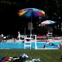Photo taken at Brentwood Park & Pool by Erik Z. on 7/4/2012