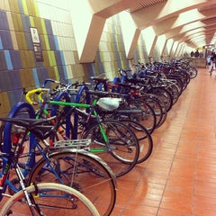 Photo taken at 16th St. Mission BART Station by Kat E. on 12/1/2011