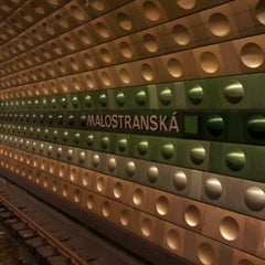 Photo taken at Metro =A= Malostranská by Max V. on 5/1/2012