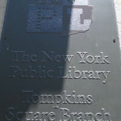 Photo taken at New York Public Library - Tompkins Square Library by Melissa I. on 5/29/2012