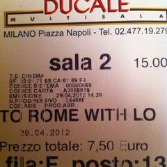 Photo taken at Cinema Ducale Multisala by Daniela G. on 5/1/2012