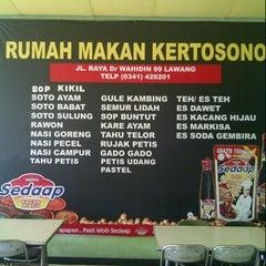 Photo taken at Rumah Makan Kertosono by Brandon B. on 8/16/2012