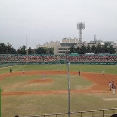 Photo taken at 청주종합운동장 야구장 (Cheongju Baseball Stadium) by Kent C. on 4/29/2012