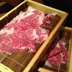 Photo taken at Mou Mou Club 牛涮鍋 by bonnie p. on 8/5/2012