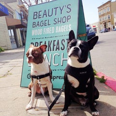 Photo taken at Beauty's Bagel Shop by Kira on 3/16/2013