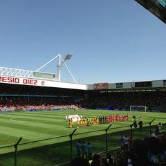 Photo taken at Estadio Nemesio Diez by Luis Enrique B. on 2/10/2013