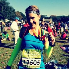 Photo taken at Rock n Roll Savannah Marathon Finish by Christina W. on 11/3/2012