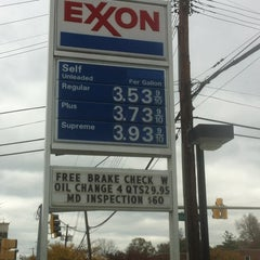 Photo taken at Exxon by Kelly G. on 11/3/2012