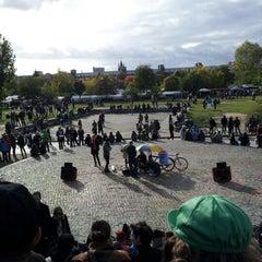 Photo taken at Sonntagskaraoke im Mauerpark by Axel S. on 10/7/2012