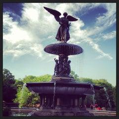 Photo taken at Bethesda Fountain by Diane C. on 5/31/2013