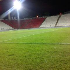 Photo taken at Estádio Joaquim Henrique Nogueira (Arena do Jacaré) - Democrata Futebol Clube by Raphael C. on 10/15/2012