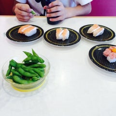 Photo taken at はま寿司 つくば小野崎店 by Yui M. on 8/8/2015