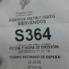 Photo taken at Registro Civil by Gabriela S. on 10/29/2013
