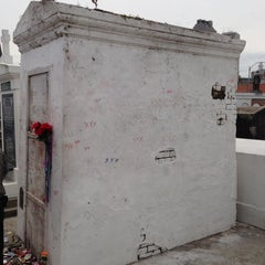 Photo taken at Tomb Of Marie Laveau by Chris 'Spike' S. on 5/12/2013