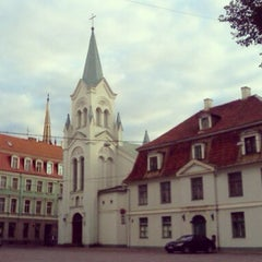 Photo taken at Pils laukums | Castle square by Anton P. on 6/29/2013
