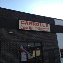 Photo taken at Carroll's Carry Out by Quante W. on 10/12/2012
