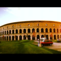 Photo taken at Harvard Stadium by Matthew C. on 10/24/2012