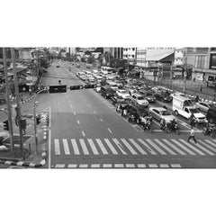 Photo taken at แยกอโศก (Asok Intersection) by zweetyingyingz on 11/12/2014