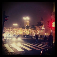 Photo taken at Plaza Mayor de Lima by Ana C. on 7/27/2013