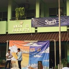 Photo taken at SMAN 61 Jakarta by Zhafira Z. on 7/18/2014