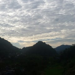 Photo taken at Banaue Rice Terraces Viewpoint by Mench L. on 5/28/2015