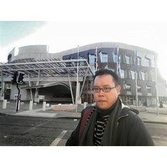 Photo taken at Scottish Parliament by Sz G. on 4/29/2015