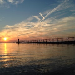 Photo taken at South Haven, MI by Zeynep M. on 9/26/2015