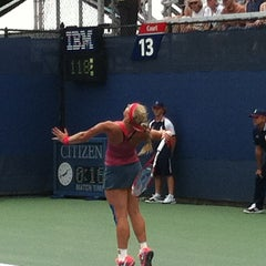 Photo taken at Court 13 - USTA Billie Jean King National Tennis Center by Andre C. on 8/26/2013